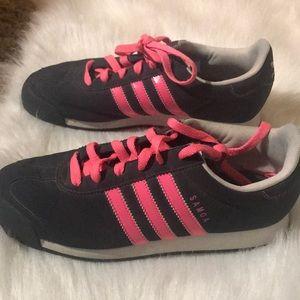 Gray and pink Adidas!